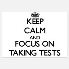 Keep Calm and focus on Taking Tests Invitations