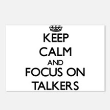 Keep Calm and focus on Ta Postcards (Package of 8)