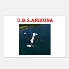 uss arizona Postcards (Package of 8)