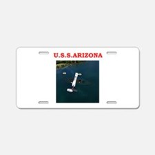 uss arizona Aluminum License Plate