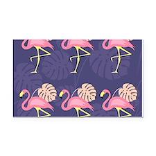 Pink Flamingos Rectangle Car Magnet
