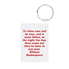 william shakespeare Keychains