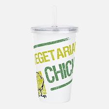 Vegetarian Chick Acrylic Double-wall Tumbler