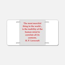 lovecraft9.png Aluminum License Plate