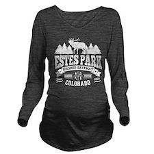 Estes Park Vintage Long Sleeve Maternity T-Shirt