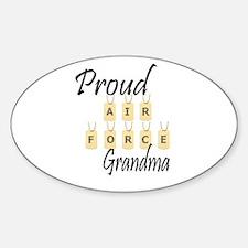 Camo AF Grandma Oval Decal