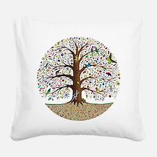 VLA Tree of Life Square Canvas Pillow