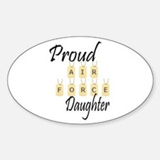 Camo AF Daughter Oval Decal