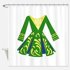 Celtic Dance Dress Shower Curtain