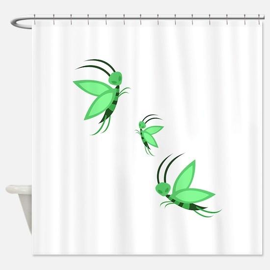 Green Faries Shower Curtain