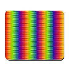 Wild Zany Rainbow Menagerie Mousepad