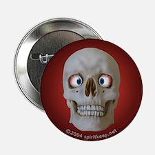 Halloween Cross-Eyed Skull Button