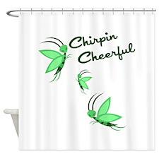 Chirpin Cheerful Shower Curtain