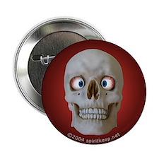 Halloween Cross-Eyed Skull Button (10 pk)