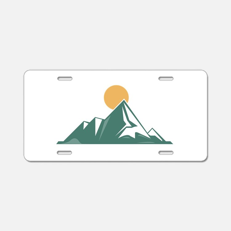 Sunrise Mountain Aluminum License Plate