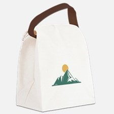 Sunrise Mountain Canvas Lunch Bag