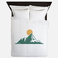 Sunrise Mountain Queen Duvet