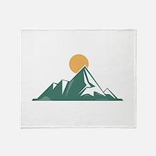 Sunrise Mountain Throw Blanket