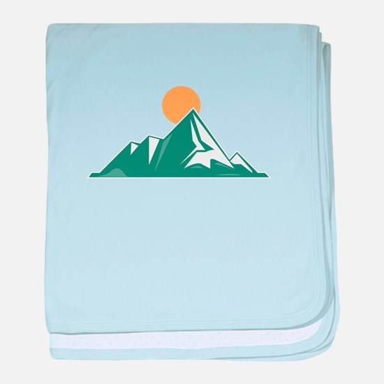 Sunrise Mountain baby blanket