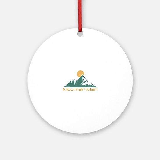 Mountain Man Ornament (Round)