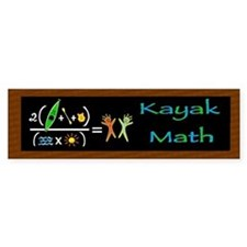 Kayak Math Bumper Bumper Sticker