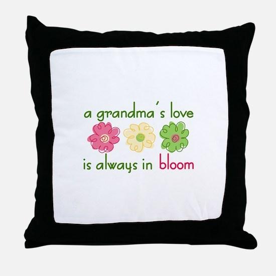 Grandmas Love Throw Pillow