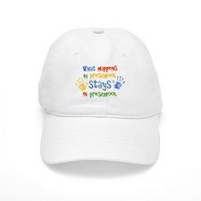 Stays In Preschool Baseball Cap