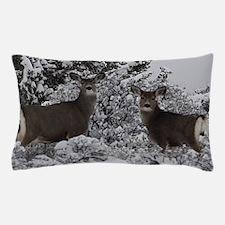 Mule Deer in the Oregon Snow Pillow Case