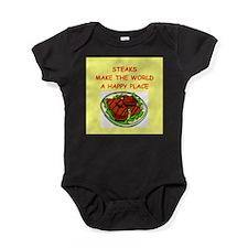 STEAKS.png Baby Bodysuit