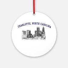 Charlotte, North Carolina Ornament (Round)