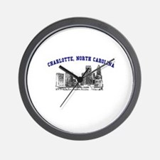 Charlotte, North Carolina Wall Clock