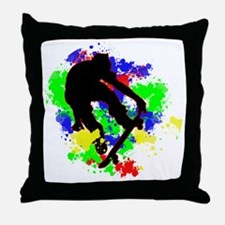 Unique Skateboard Throw Pillow