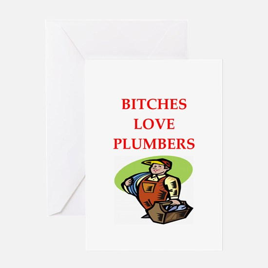 plumber Greeting Card