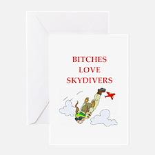 skydiving joke Greeting Card
