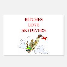 skydiving joke Postcards (Package of 8)