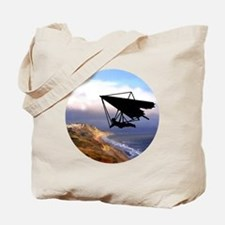 Hang Gliding Over the California Coast Tote Bag