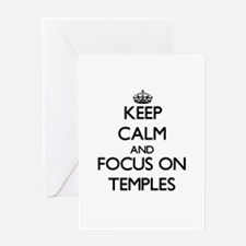 Keep Calm and focus on Temples Greeting Cards