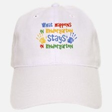 Stays In Kindergarten Baseball Baseball Cap
