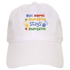Stays In Kindergarten Baseball Cap