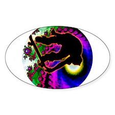 Tropical Hurricane Eye with Skateboarder Decal