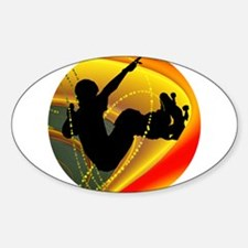 Skateboarding Silhouette in the Bowl. Decal