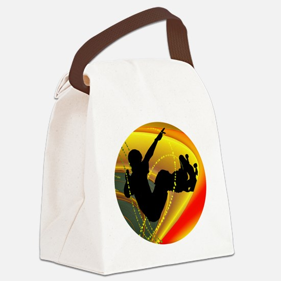 Skateboarding Silhouette in the B Canvas Lunch Bag