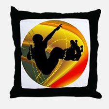 Skateboarding Silhouette in the Bowl. Throw Pillow