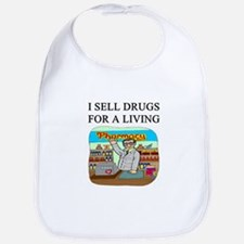funny pharmacist joke gifts t-shirts Bib