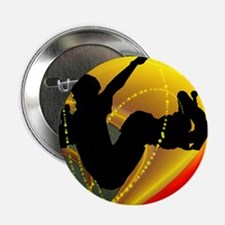 """Skateboarding Silhouette in the Bowl. 2.25"""" Button"""