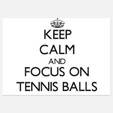 Keep Calm and focus on Tennis Balls Invitations