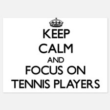 Keep Calm and focus on Tennis Players Invitations