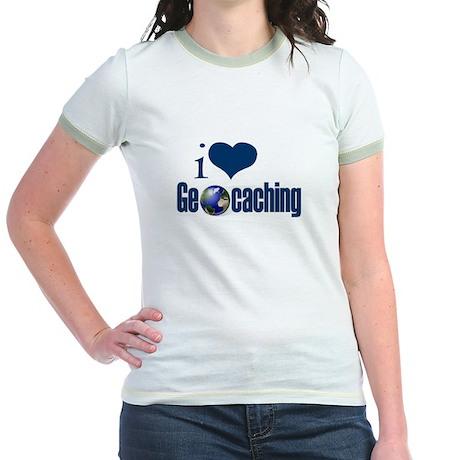 I Love Geocaching Jr. Ringer T-Shirt