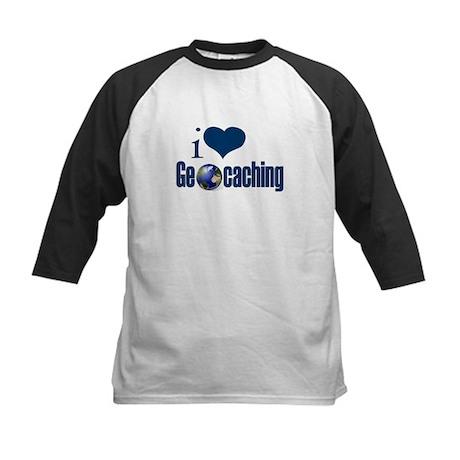 I Love Geocaching Kids Baseball Jersey