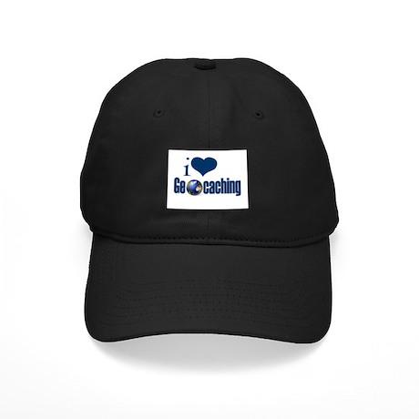 I Love Geocaching Black Cap